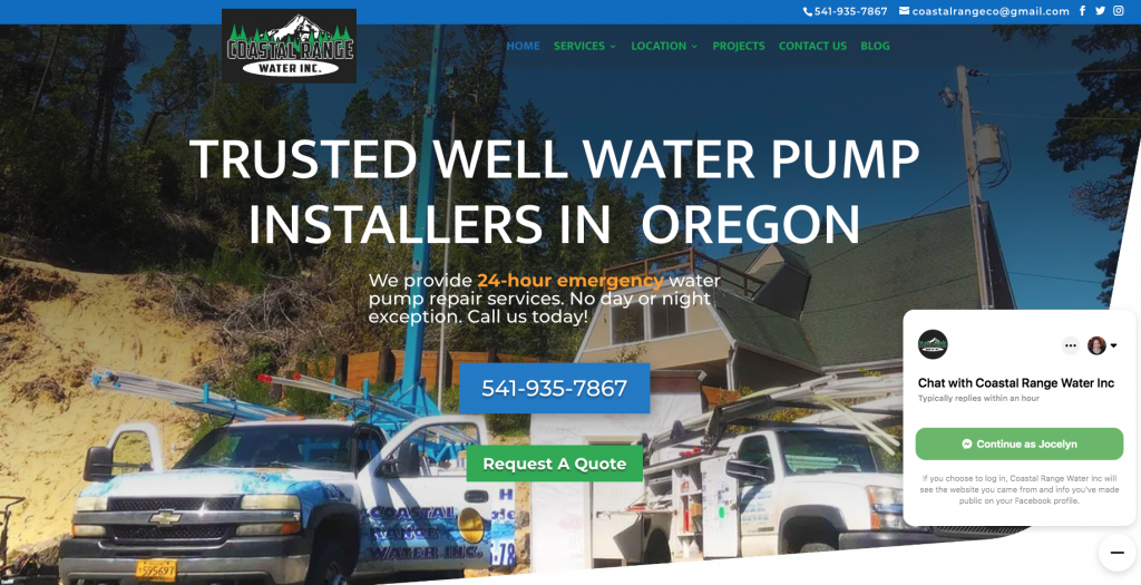 Coastal Range Water - Well Pump Service